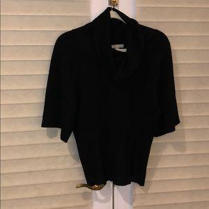 OneA Black cowl neck short sleeve sweater